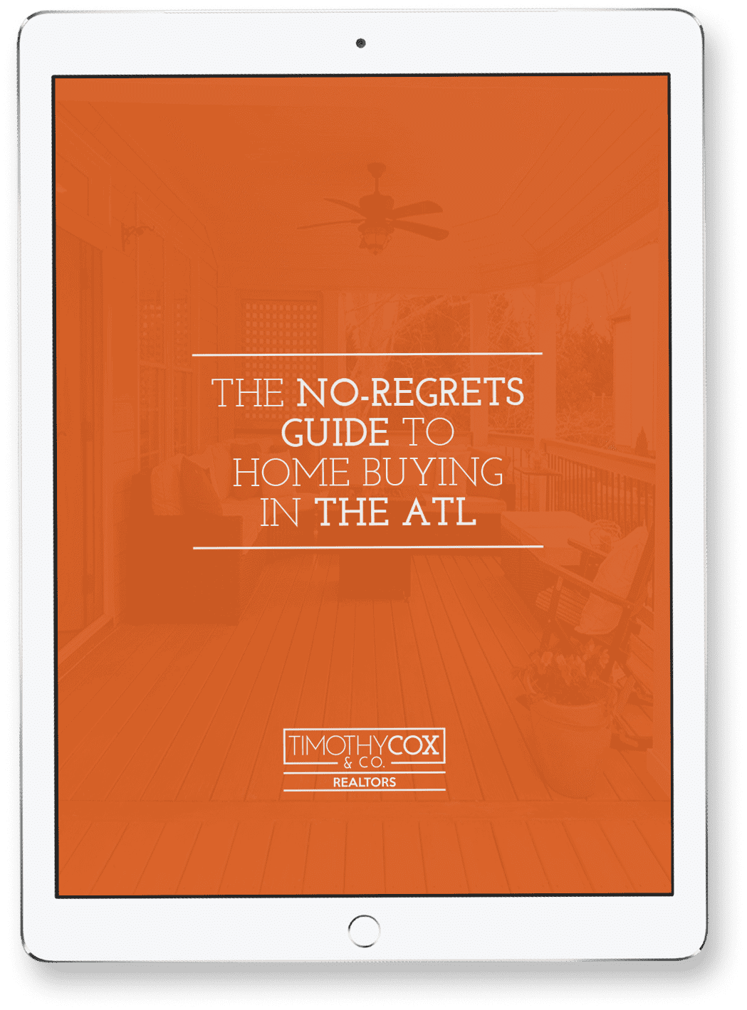 iPad Representing The No-Regrets Guide to Home Buying in The ATL